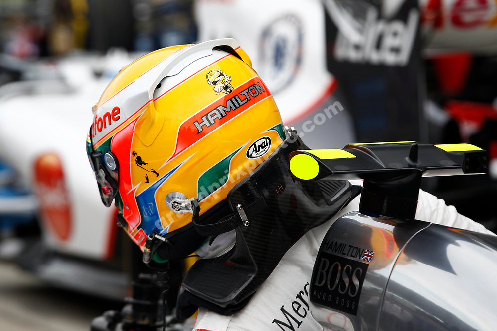 Lewis Hamilton (McLaren-Mercedes) in parc ferme after qualifying for the 2012 Japanese Grand Prix in Suzuka. Photo: Grand Prix Photo