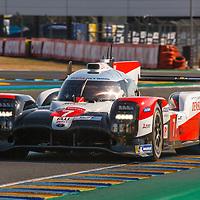#7, Toyota TS050 Hybrid, Toyota Gazoo Racing, drivers: M. Conway, K. Kobayashi, J.-M. Lopez, LMP1, FP2, Le Mans 24H 2020, on 17/09/2020