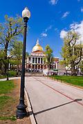 The Massachusetts State House on the Freedom Trail, Boston, Massachusetts