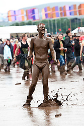 Mud in the main arena, Sunday at T in the Park 2012, held at Balado, in Fife, Scotland.