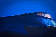"F-22 ""Raptor"" on the ramp at Nellis Air Force Base, near Las Vegas, Nevada."