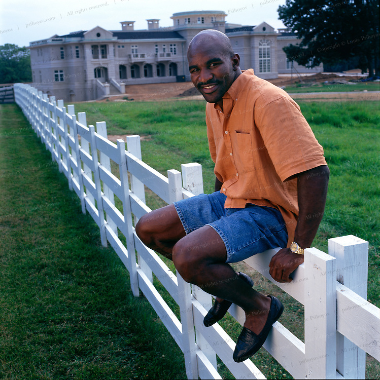 Evander Holyfield, heavyweight boxing champion at his 55,000 square-foot home in Georgia, outside Atlanta.