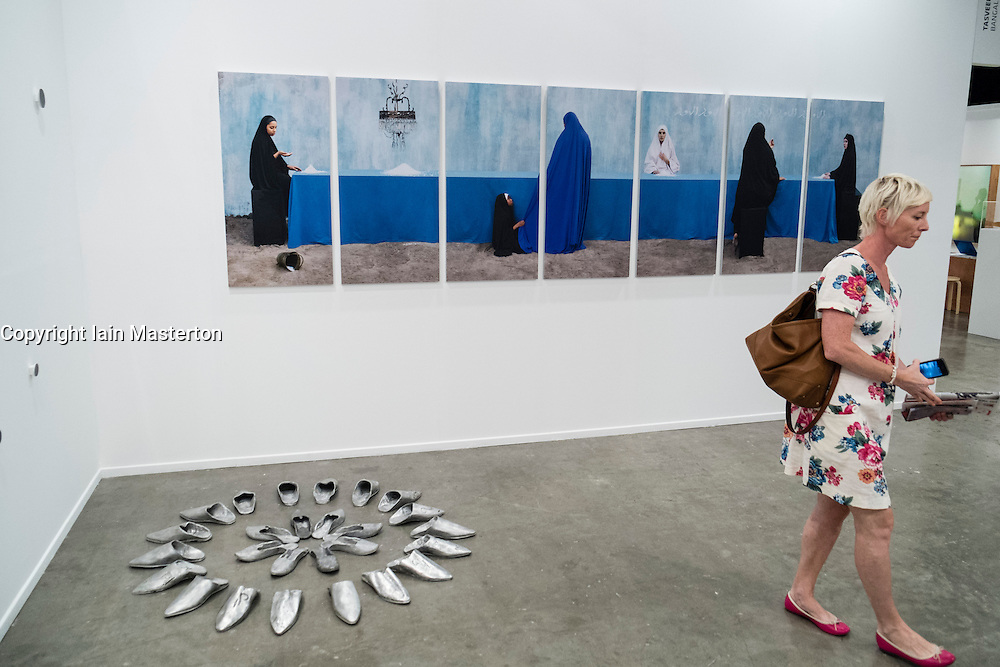 Art Dubai 2014 the leading art fair in the Middle East held at Madinat Jumeirah in Dubai United Arab Emirates