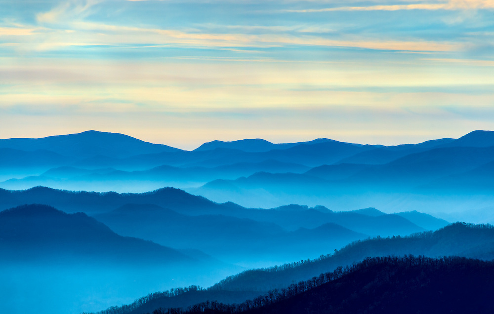 View of the Smoky Mountains from Route 441 Newfound Gap