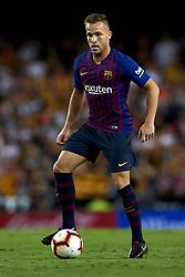 October 8, 2018 - Valencia, Valencia, Spain - Arthur Melo controls the ball during the week 8 of La Liga match between Valencia CF and FC Barcelona at Mestalla Stadium in Valencia, Spain on October 7, 2018. (Credit Image: © Jose Breton/NurPhoto/ZUMA Press)