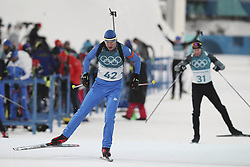 February 11, 2018 - Pyeongchang, GANGWON, SOUTH KOREA - Feb 11, 2018-Pyeongchang, South Korea-Dominik WINDISCH of Italy action on the snow during an Olympic Biathlon Mens Sprint 10Km at Biathlon Center in Pyeongchang, South Korea. (Credit Image: © Gmc via ZUMA Wire)