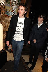 Left to right, OTIS FERRY and TARA FERRY at a party hosted by Mulberry to celebrate the publication of The Meaning of Sunglasses by Hadley Freeman held at Mulberry 41-42 New Bond Street, London on 14th February 2008.<br /><br />NON EXCLUSIVE - WORLD RIGHTS
