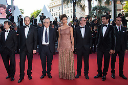Pierfrancesco Favino, Maria Fernanda Candido, Marco Bellocchio, Luigi Lo Cascio, Fausto Russo Alesi and guests arriving on the red carpet of 'The Traitor (Il Traditore)' screening held at the Palais Des Festivals in Cannes, France on May 23, 2019 as part of the 72th Cannes Film Festival. Photo by Nicolas Genin/ABACAPRESS.COM