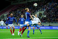 Fotball, Eliteserien <br /> 29.10.17 , 20171029<br /> Vålerenga - Molde<br /> Henrik Kjelsrud Johansen - VIF<br /> Mattias Kent Moström - Molde<br /> Foto: Sjur Stølen / Digitalsport