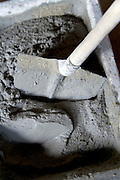 making of cement in a plastic container