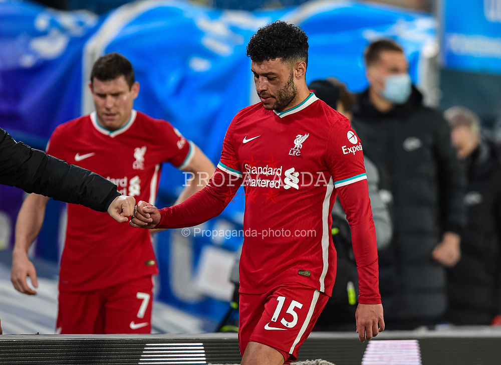 LEEDS, ENGLAND - Monday, April 19, 2021: Liverpool's Alex Oxlade-Chamberlain after the FA Premier League match between Leeds United FC and Liverpool FC at Elland Road. The game ended in a 1-1 draw. (Pic by Propaganda)