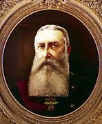 Leopold II (1835-1909) King of Belgium from 1865. Portrait by Pierre Tossyn.