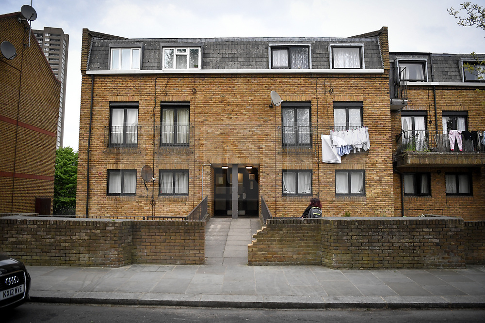 © Licensed to London News Pictures. 01/05/2019. London, UK.  A flat St Evans Road, Westbourne Park. The property is understood to belong to a 34yr old man who was arrested yesterday in connection with the double murder in Canning Town where the bodies of two women were found in chest Freezer. The Investigation is ongoing.  Photo credit: Guilhem Baker/LNP