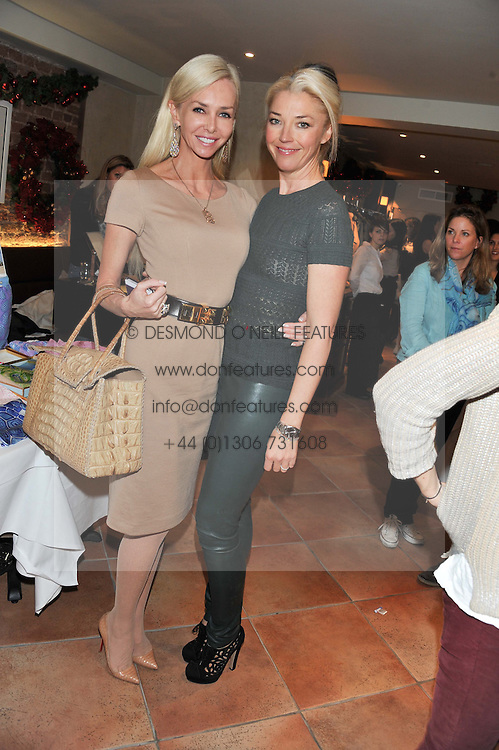 Left to right, AMANDA CRONIN and TAMARA BECKWITH  at the Delicious Glamourous Girls Christmas Bazaar held at The Little Black Gallery & 11 Park Walk, Park Walk, London on 27th November 2012.