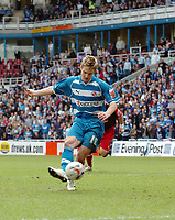 Photo: Kevin Poolman.<br />Reading v Stoke City. Coca Cola Championship. 17/04/2006. Kevin Doyle scores a penalty and Reading's 2nd goal.