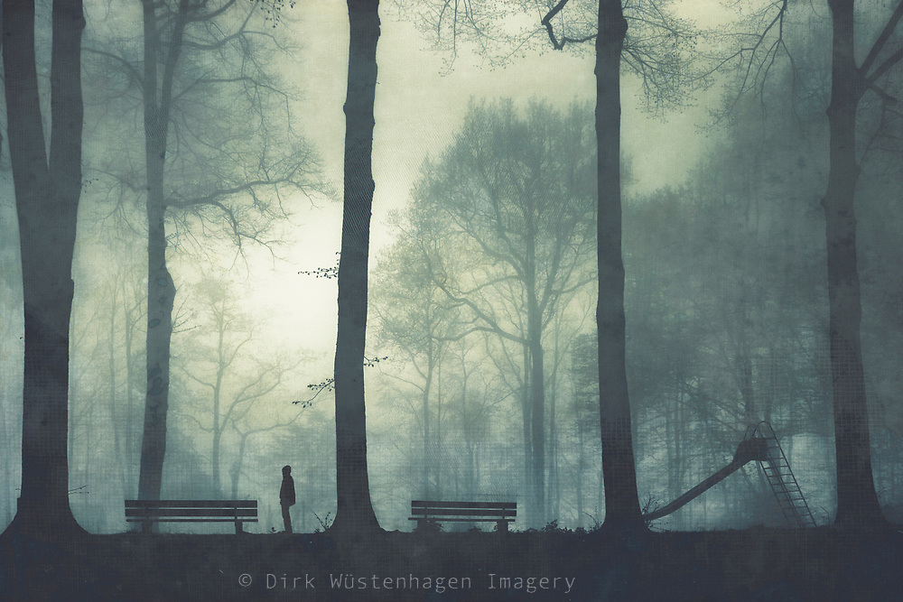 One misty morning on a playground - textured photograph<br /> Redbubble prints and more--> https://rdbl.co/2EBhEG1