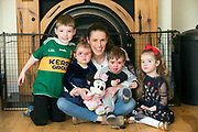 Health Insurance Feature:<br /> SInead Curran with her kids Conor, Tommy, Lauren and Cianna pictured at home in Portmagee, County Kerry.<br /> Photo: Don MacMonagle