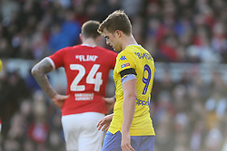 Leeds United's Patrick Bamford appears dejected during the Sky Bet Championship match at The Riverside Stadium, Middlesbrough.