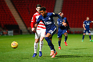 Southend United midfielder Michael Klass (20) in action  during the EFL Sky Bet League 1 match between Doncaster Rovers and Southend United at the Keepmoat Stadium, Doncaster, England on 12 February 2019.