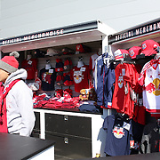 New York Red Bulls official merchandise on sale outside Red Bull Arena during the New York Red Bulls Vs D.C. United Major League Soccer regular season match at Red Bull Arena, Harrison, New Jersey. USA. 22nd March 2015. Photo Tim Clayton