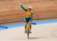 Anna Meares (Australia) celebrates winning the Womens 500m Time Trial,  Cycling, Athens Olympics, 20/08/2004. Credit: Colorsport / Matthew Impey DIGITAL FILE ONLY