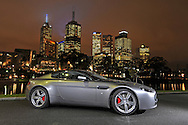 2009 Aston Martin V8 Vantage Coupe - Tungsten Silver.Southbank, Melbourne.12th August 2009.(C) Joel Strickland Photographics.Use information: This image is intended for Editorial use only (e.g. news or commentary, print or electronic). Any commercial or promotional use requires additional clearance.
