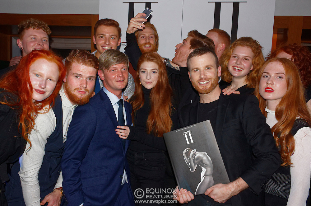 London, United Kingdom - 14 October 2016<br /> Ginger haired Girls Aloud singer Nicola Roberts who modelled for the book with Thomas and Elliott. The launch of Red Hot II book, a photographic project by photographer Thomas Knights and creative director Elliott James Frieze celebrating red-heads in support of Diana anti-bullying charity, Devonshire Club, London, England, UK.<br /> www.newspics.com/#!/contact<br /> (photo by: EQUINOXFEATURES.COM)<br /> Picture Data:<br /> Photographer: Equinox Features<br /> Copyright: ©2016 Equinox Licensing Ltd. +448700 780000<br /> Contact: Equinox Features<br /> Date Taken: 20161014<br /> Time Taken: 21145172<br /> www.newspics.com