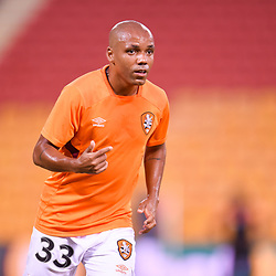 BRISBANE, AUSTRALIA - MARCH 3: Henrique of the Roar warms up during the Round 22 Hyundai A-League match between Brisbane Roar and Adelaide United on March 3, 2018 in Brisbane, Australia. (Photo by Patrick Kearney / Brisbane Roar FC)