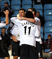 Photo: Dave Linney.<br />Aston Villa v Bolton Wanderers. The Barclays Premiership. 16/12/2006.Bolton's  Gary Speed (C) celebrates after making it 1-0.