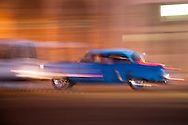 Classic American car on the Malecon, Havana, Cuba