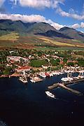 Lahaina Harbor, Lahaina, Maui, Hawaii, USA<br />