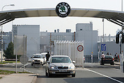 Mlada Boleslav/Tschechische Republik, Tschechien, CZE, 19.03.07: Die Haupt Werkseinfahrt der Skoda Autofabrik in Mlada Boleslav. Der tschechische Autohersteller Skoda ist ein Tochterunternehmen der Volkswagen Gruppe.<br /> <br /> Mlada Boleslav/Czech Republic, CZE, 19.03.07: The main entrance to the Skoda car factory in Mlada Bolesla. Czech car producer Skoda Auto is subsidiary of the German Volkswagen Group (VAG).