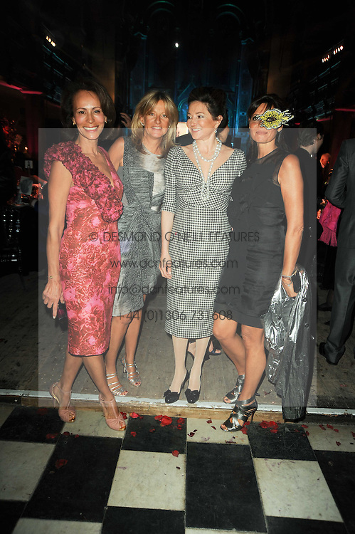Left to right, ANDREA DELLAL, PRINCESS CHANTAL OF HANOVER, DORRIT MOUSSAIEFF and COUNTESS DEBONAIRE VON BISMARCK at 'Superficial Butterfly' a party hosted by Amanda Eliasch to celebrate her 50th birthday held at Number One Mayfair (St Marks Church) North Audley Street, London on 12th May 2010.