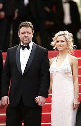 """File Photo. Russell Crowe and Danielle Spencer during the premiere of """"Robin Hood"""" at the 63rd Cannes Film Festival in Cannes, France on May 12, 2010. Russell Crowe and Danielle Spencer separate after nine years of marriage."""
