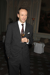 PHILIPPE LEBOEUF Chairman of Claridges at a dinner to celebrate the launch of the Dom Ruinart 1998 vinatage champage at Claridge's, Brook Street, London W1 on 23rd April 2008.<br /><br />NON EXCLUSIVE - WORLD RIGHTS