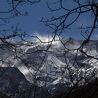 Africa, Morocco, Imlil. View of Jbel Toubkal, highest peak in the Atlas Mountains.