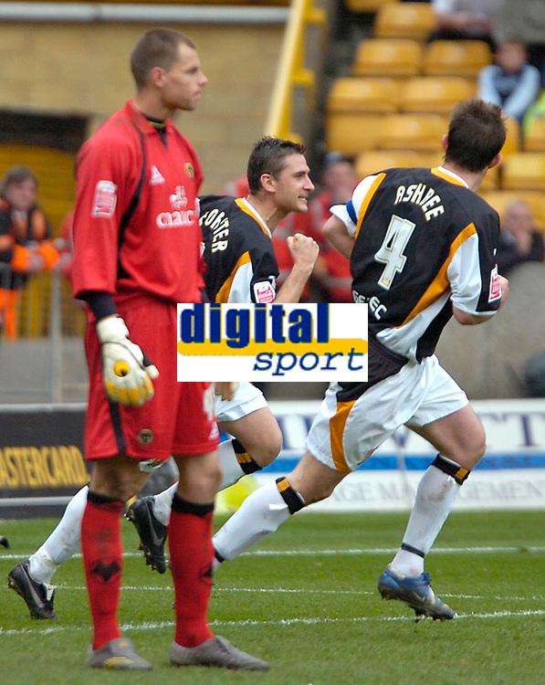 Photo: Ed Godden/Sportsbeat Images.<br />Wolverhampton Wanderers v Hull City. Coca Cola Championship. 09/04/2007. Hull's Nicky Forster celebrates his goal.