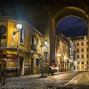 Street angle of Calle Elvira in Granada.