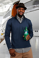 NBA players Lebron James, Serge Ibaka and Omri Casspi filming a Sprite television commercial at Orin Jet Center in Opa-Locka ,Florida on December 8,2011.<br /> <br /> (Tom DiPace /AP))