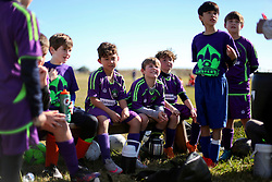 24 January 2016. Houma, Louisiana. <br /> New Orleans Jesters Youth Academy U10 Green 2 vs Houma Blackhawks White. Jesters tie 2-2 <br /> Photo©; Charlie Varley/varleypix.com
