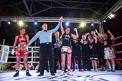 October 6, 2018 - Alcobendas, Madrid, Spain - During boxing world title minimumweight category fight between Joana Pastrana and SiripornTaweeksuk aka Samson Tor Buamas celebrated  at José Caballero Sports Center in Alcobendas, Madrid (Spain). October 5th 2018. Joana Pastrana wins the fight. (Credit Image: © Juan Carlos GarcíA Mate/Pacific Press via ZUMA Wire)