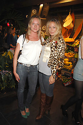 Left to right, NATHALIE BURGEN and ELLIE SHEPHERD at the launch of the Desigual flagship store at 222 Regent Street, London W1 on 28th June 2007.<br />
