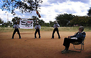 Dancers perform at the start of a David Coltart MDC rally in Bulawayo, Zimbabwe.