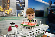 27/11/2016 REPRO FREE:  Ruadhan O Culain (10) from Spiddal  from Woodlawn enjoy the Marine Institute exhibition inNUI Galway as part of the Galway Science & Technology Festival.<br /> <br /> Photo: Andrew Downes, Xposure.