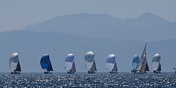 Sailing - SCOTLAND  - 28th May 2018<br /> <br /> Final days racing the Scottish Series 2018, organised by the  Clyde Cruising Club, with racing on Loch Fyne from 25th-28th May 2018<br /> <br /> RC35 Fleet, Arran<br /> <br /> Credit : Marc Turner<br /> <br /> Event is supported by Helly Hansen, Luddon, Silvers Marine, Tunnocks, Hempel and Argyll & Bute Council along with Bowmore, The Botanist and The Botanist