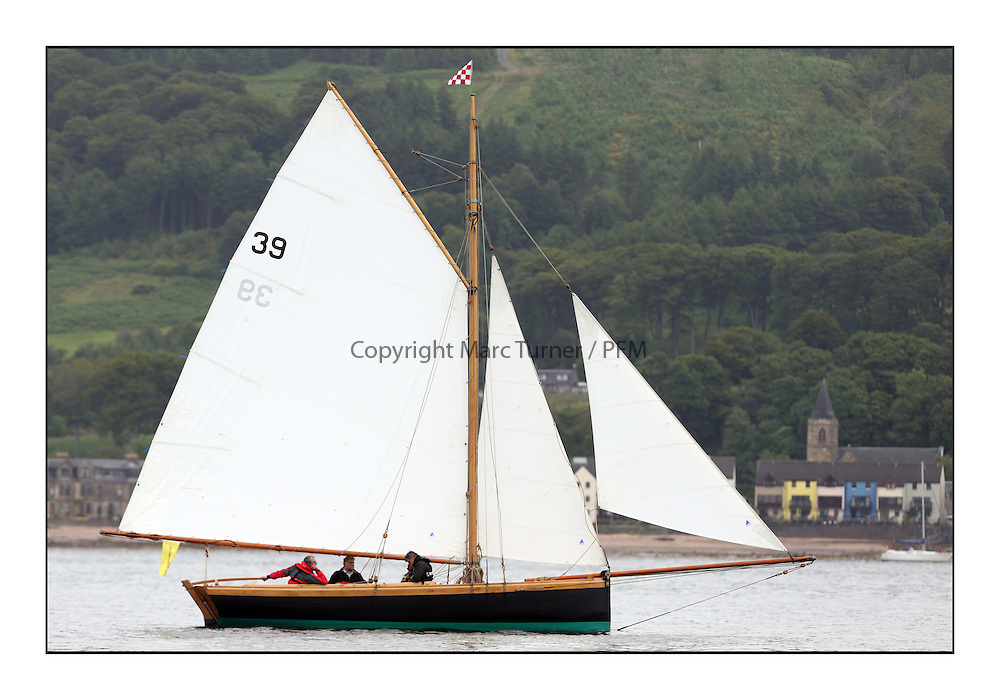 Day one of the Fife Regatta, Round Cumbraes Race.<br /> <br /> Ayrshire Lass, Paul Goss / Theo Rye, GBR, Gaff Cutter, Wm Fife 2nd, 1887<br /> * The William Fife designed Yachts return to the birthplace of these historic yachts, the Scotland's pre-eminent yacht designer and builder for the 4th Fife Regatta on the Clyde 28th June–5th July 2013<br /> <br /> More information is available on the website: www.fiferegatta.com