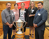 Finalists in the Ahuwhenua Trophy, Te Puni Kōkiri Excellence in Māori Farming Award, were announced in the Great Hall at Parliament, Wellington, 21 February 2019. Photo by alphapix.nz<br /> <br /> CONDITIONS of USE:<br /> <br /> FREE for editorial use in direct relation the Ahuwhenua Trophy competition. ie. not to be used for general stories about the finalist or farming.<br /> <br /> NO archiving of images. NO commercial use. <br /> Please contact John@alphapix.co.nz if you have any questions