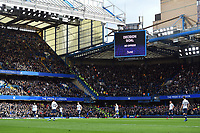Football - 2019 / 2020 Premier League - Chelsea vs. Tottenham Hotspur<br /> <br /> Chelsea's Olivier Giroud's goal is confirmed by VAR, at Stamford Bridge.<br /> <br /> COLORSPORT/ASHLEY WESTERN