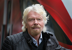 © Licensed to London News Pictures. 18/03/2016. London, UK. Sir Richard Branson unveils Virgin Train's new Azuma train for the East Coast main line at King's Cross station. Photo credit: Peter Macdiarmid/LNP
