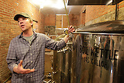 Lou Lenz, brewmaster and owner of the Kaskaskia Brewing Company in Red Bud, explains the brewing process.
